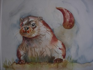 Otter watercolour, Elizabeth Willmott-Harrop